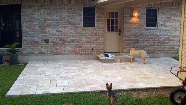 New Patio Tile Pavers