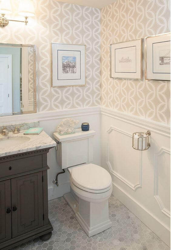 Wainscoting ideas for your bathroom for Wainscoting bathroom ideas