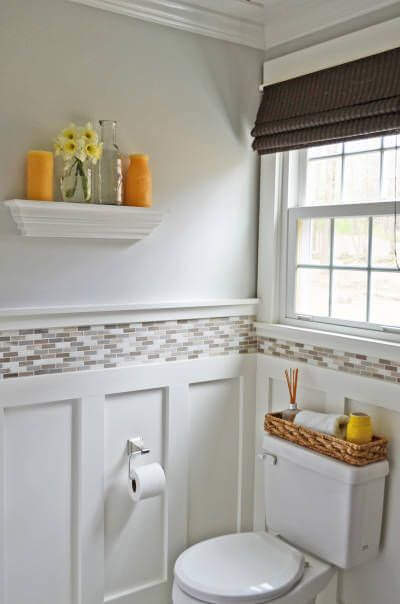 bathroom-wainscoting-with-tile-above - Classic Home ...