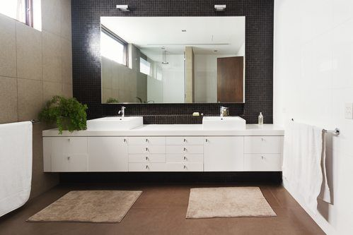 Floating Vanity Frontal View - Bathroom Remodel Rancho Bernardo