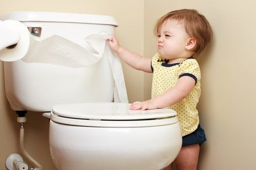 Toddler in the Bathroom - Bathroom Remodeling Carmel Valley CA