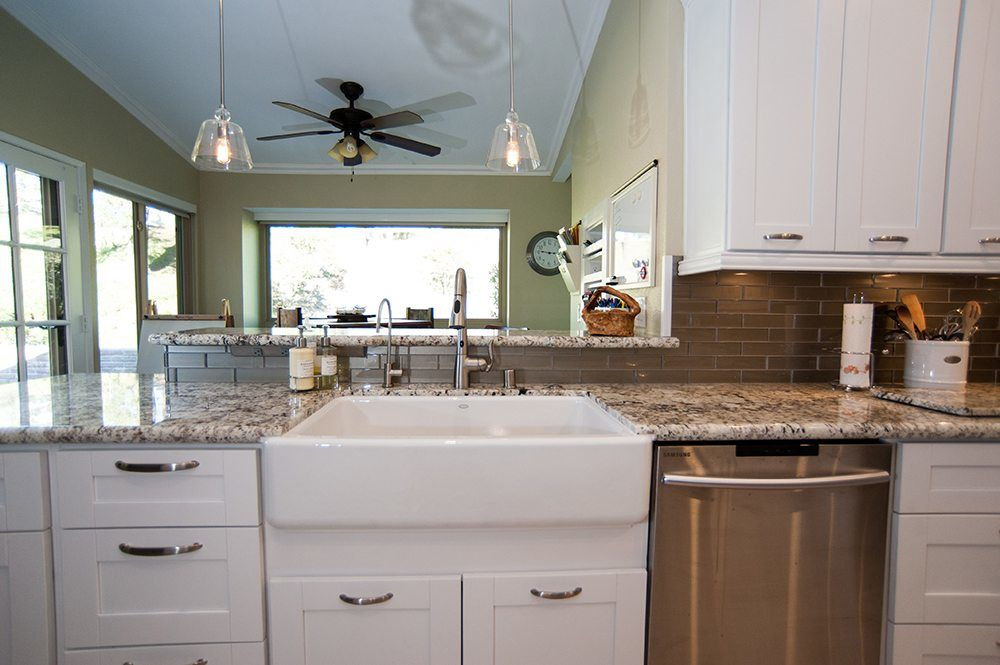 Single Bowl Kitchen Sink With Touchless Faucet in Poway Kitchen Remodel