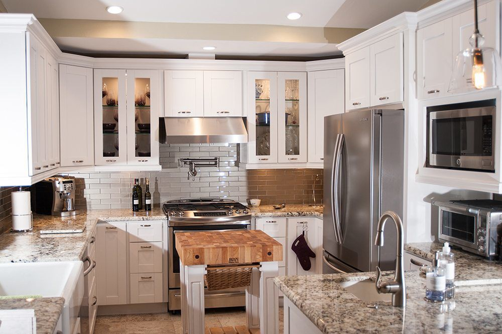 Small Kitchen Remodel With White Shaker Cabinetry