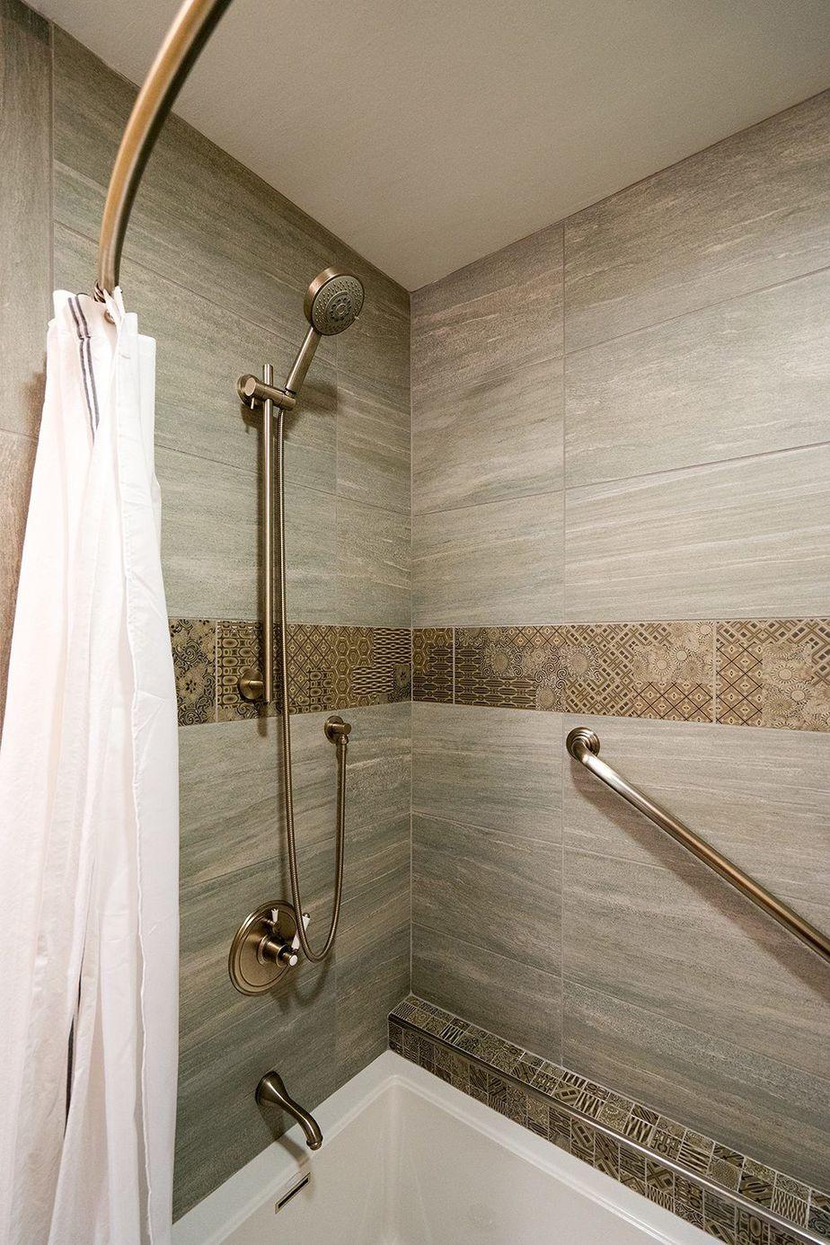 vista remodeled tiled shower