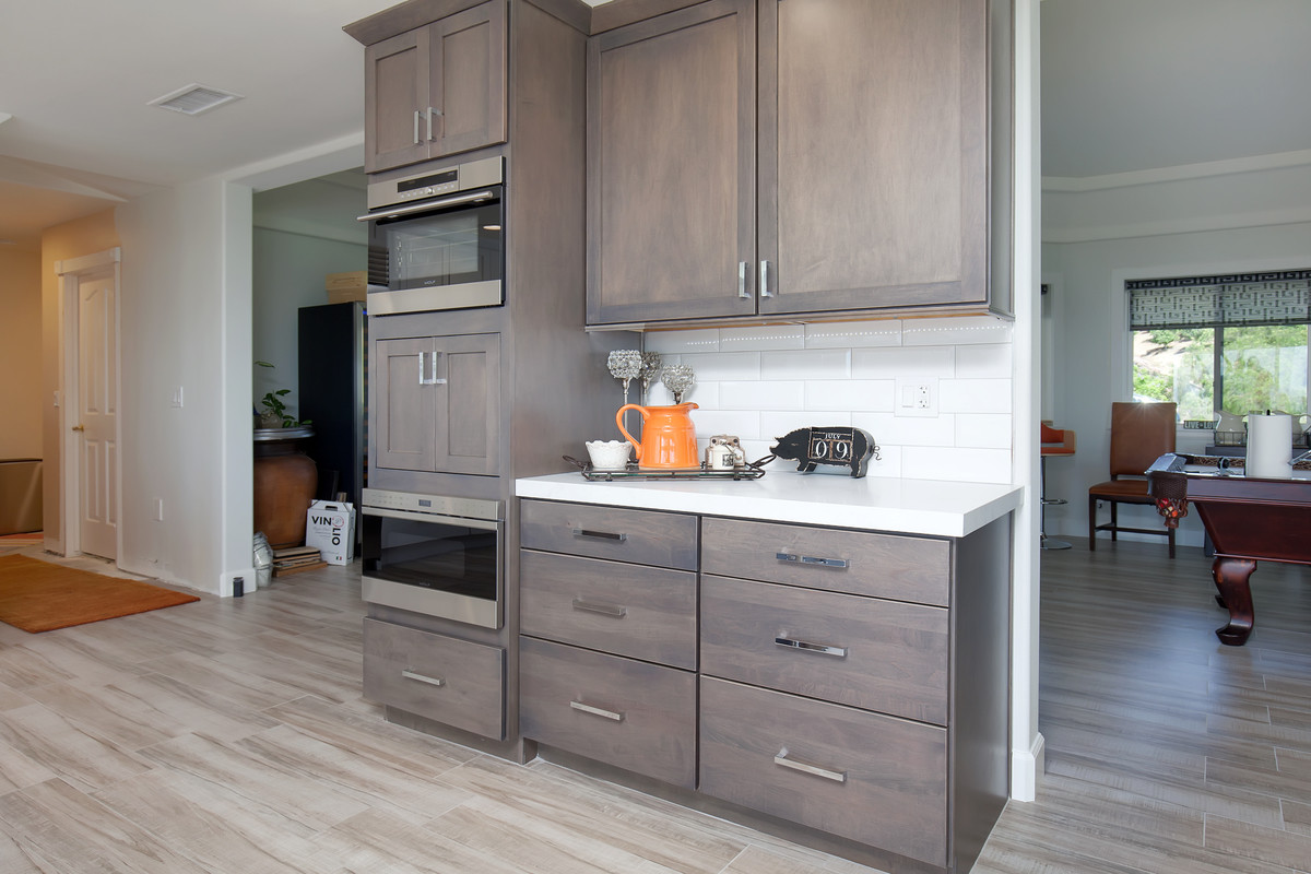 kitchen remodel featuring a coffee bar station