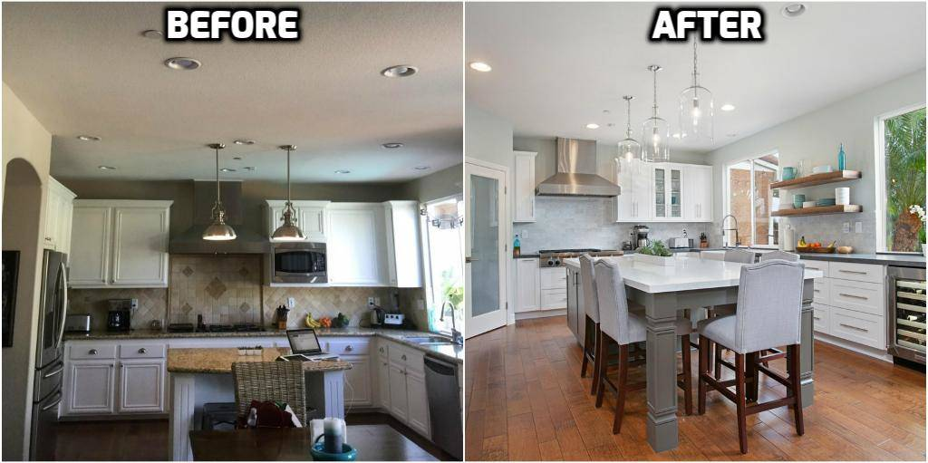 Before And After Kitchen Remodel Scripps Ranch   This Home Was Originally  Built In 2001 And Was Remodeled In 2018 To A Modern Kitchen Space