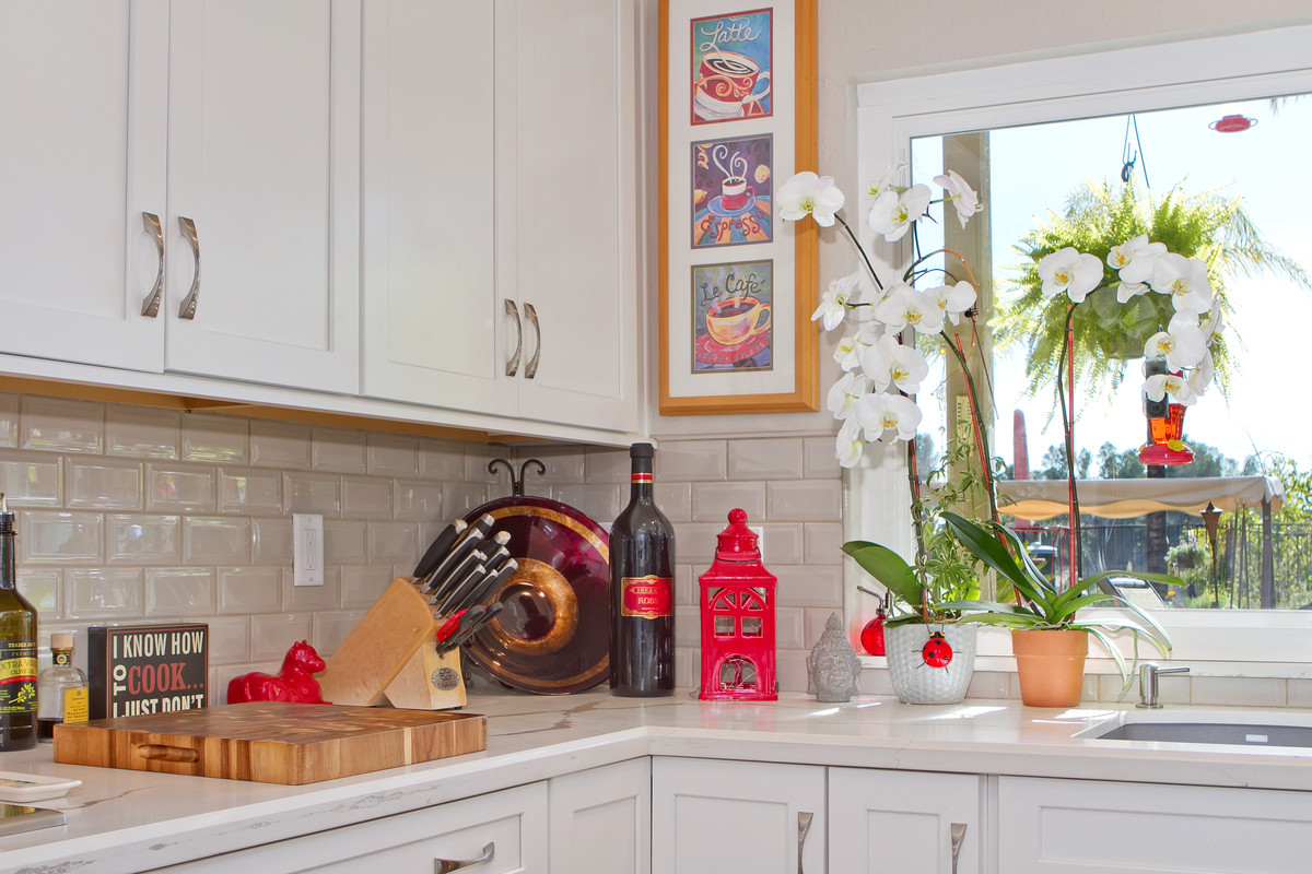 fun bright kitchen remodel with pops of color