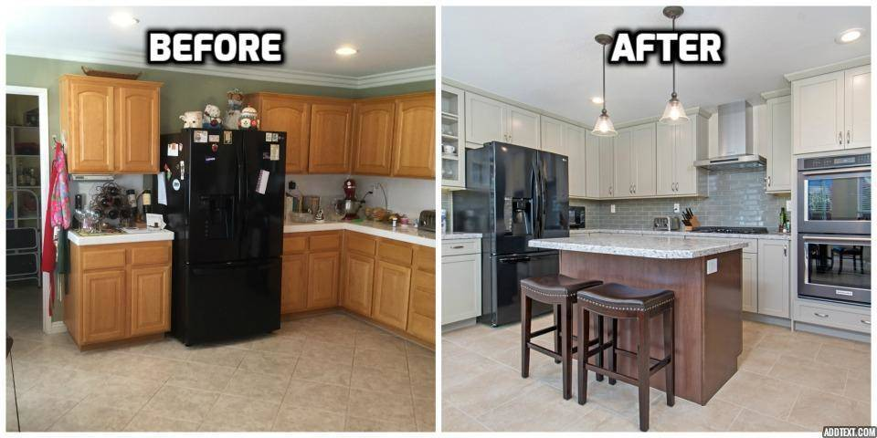 Before And After Kitchen Remodel San Diego   Home Built In 2001  Before And  After Kitchen Remodel Photo By PreviewFirst