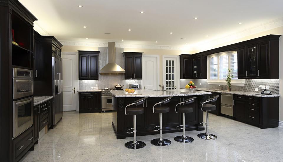 Dark Kitchen Cabinets Are Still An Option Classic Home Improvements