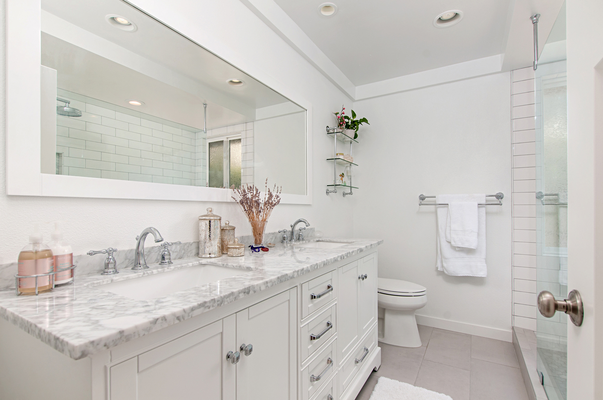 breathtaking all white bathroom | All White Master Bathroom Remodel - Classic Home Improvements